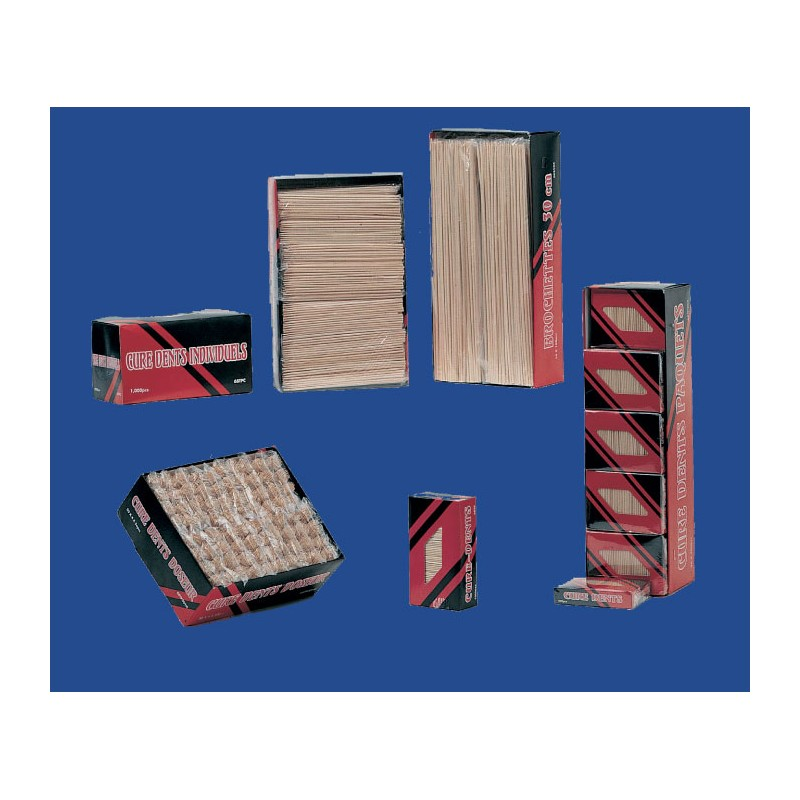 Carton de 5000 Pailles Flexibles Striées