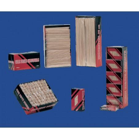 Carton de 10.000 Pailles Flexibles Striées